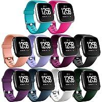 HUMENN Bracelet pour Fitbit Versa, Bande en TPU Silicone Souple de Remplacement Ajustable Sport Accessorie pour Fitbit Charge 2 Montre Wristband