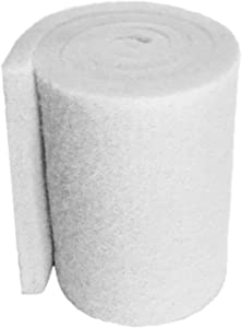 Aquatic Experts White Classic Koi Pond FINE Filter Pad - 1 inch Thick - Bulk Roll Water Garden Prefilter Media - Made in USA