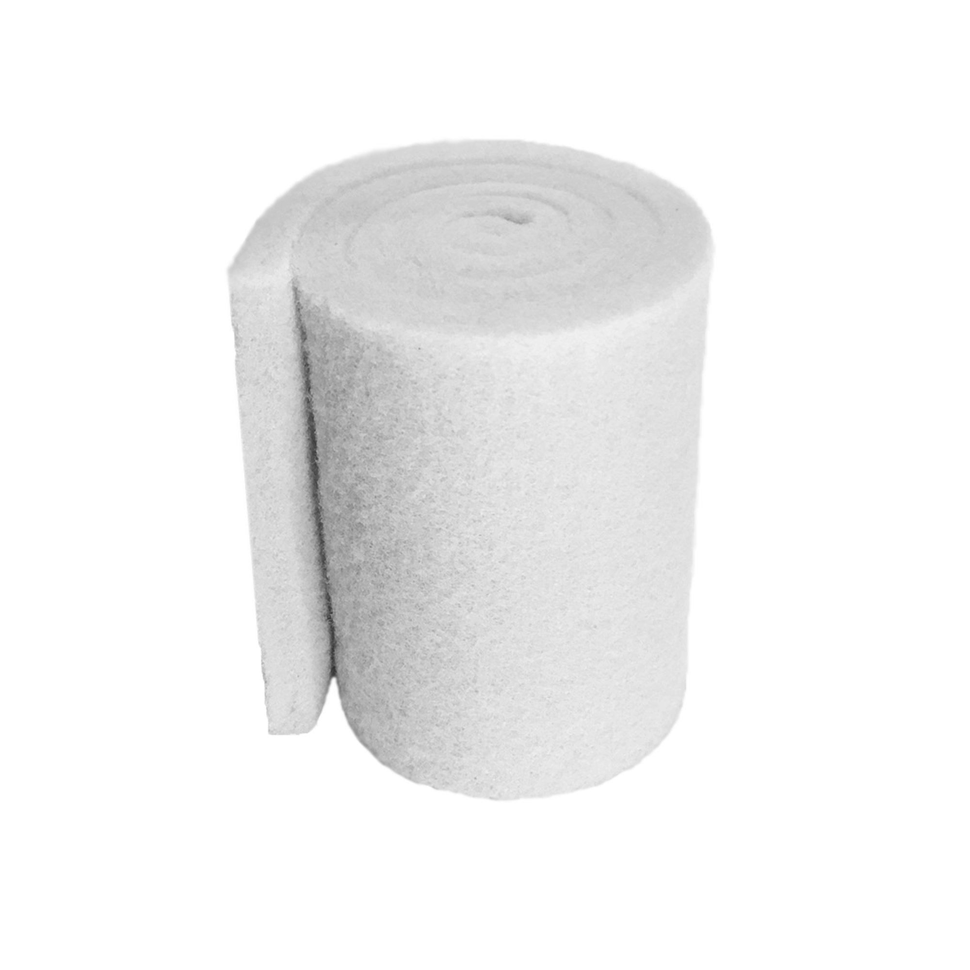 Aquatic Experts Classic Koi Pond Filter Pad FINE - 12 Inches by 72 Inches by 3/4'' to 1 Inch - White Bulk Roll Pond Filter Media, Ultra-Durable Fish Pond Filter Material USA