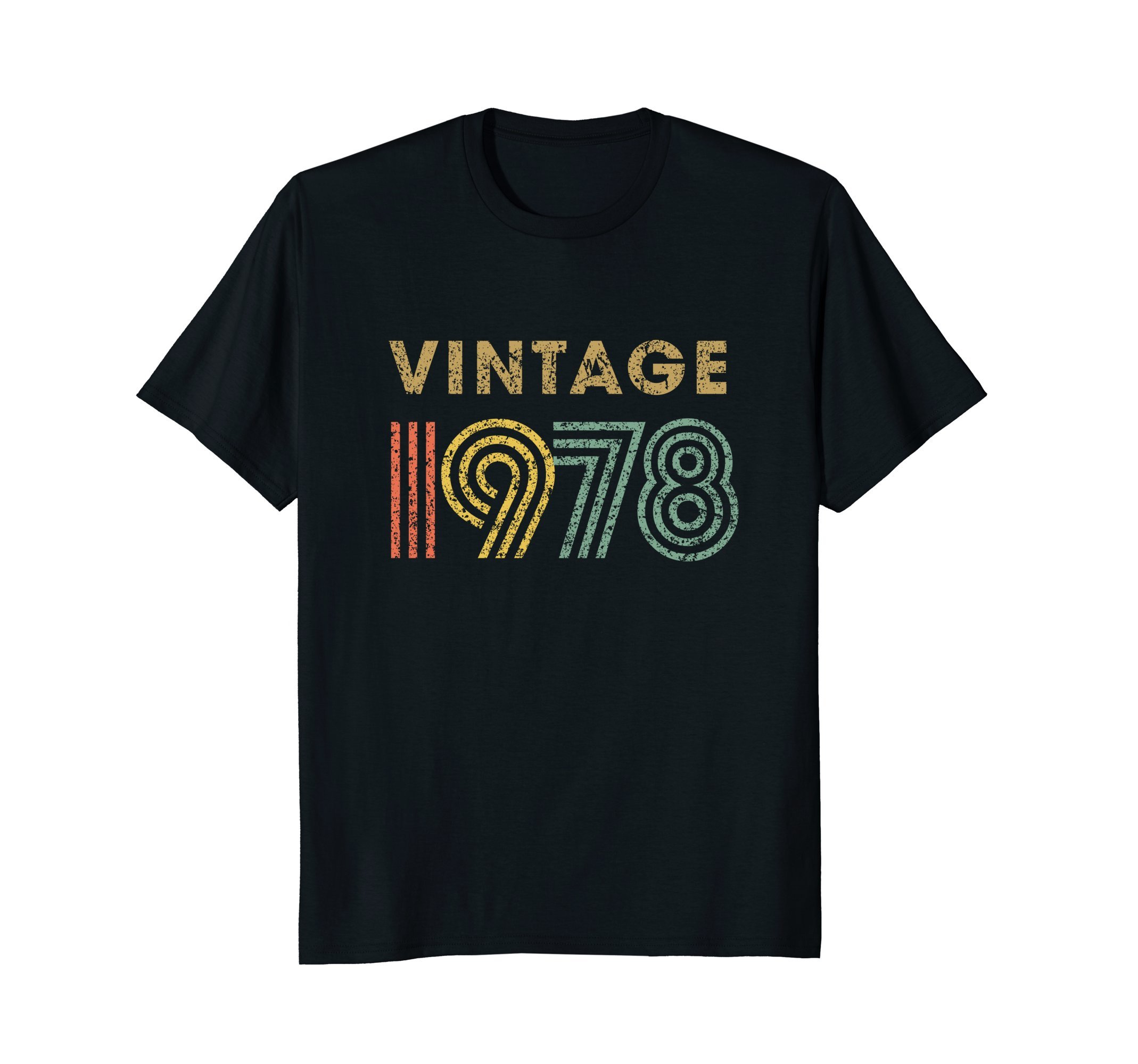Vintage T-shirt Born in 1978 Retro 40th Birthday Gift