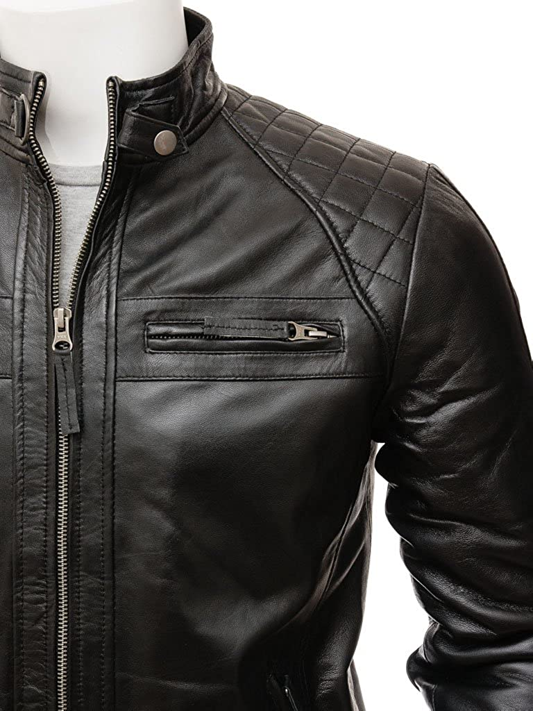 Zafy Leather Mens Lambskin Leather Jacket