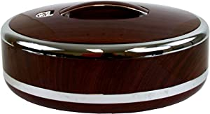 Tmvel Pot Insulated Casserole Hot Pack Food Warmer 5L Mahogany (Oval) -Serving, Large Soup and Salad Bowl