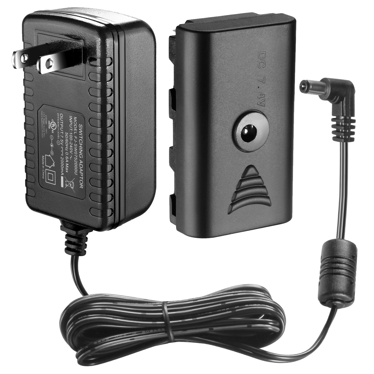 Neewer CN-AC2 DC 7.5V 2A Switching Power Supply Adapter for Video Light CN-160 CN-126 10077719