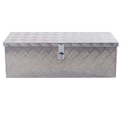30u0026quot; Aluminum Truck Pickup Storage Bed Trailer Tongue Lockable Tool Box  Lock Cabinets