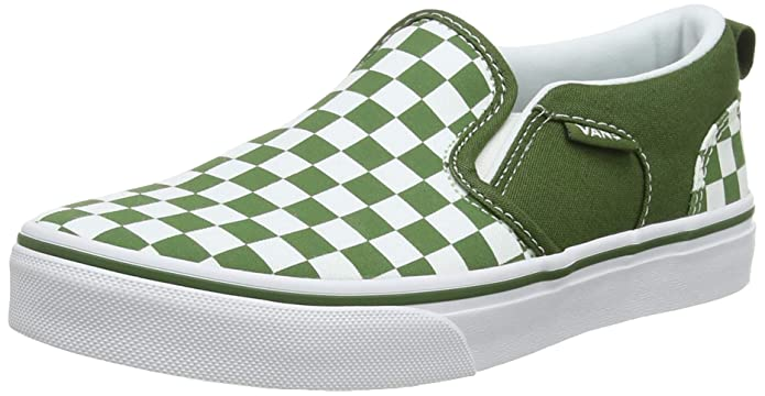 Vans Kinder Asher Unisex Sneaker Grün Weiß Kariert (Checkered) Garden Green Vw5)