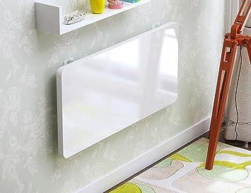 Faltbarer Wandtisch ZCJB Small Computer Schreibtisch Wand Schreibtisch  Schlafzimmer Notebook Schreibtisch Klapptisch Wandbehang Esstisch, Weiß