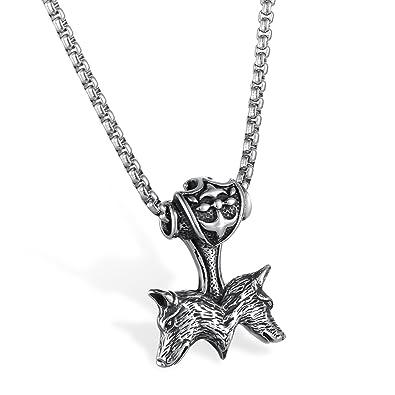 jewelrywe joyas collar Biker Hombre, Acero inoxidable ...