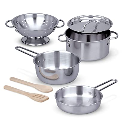 Melissa & Doug Stainless Steel Pans