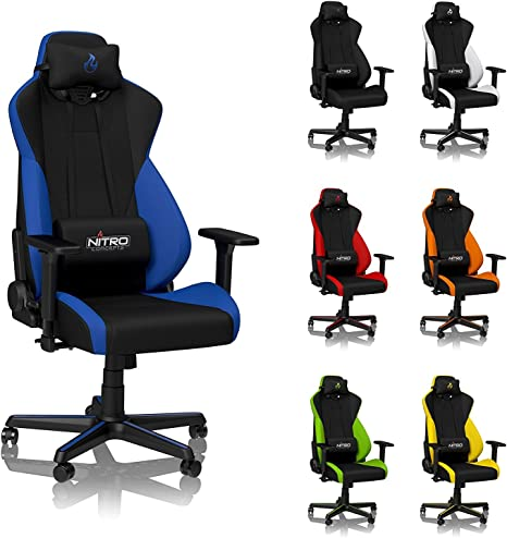 Image result for NITRO CONCEPTS S300 GALACTIC BLUE GAMING CHAIR