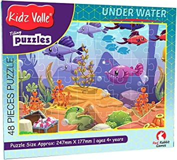 Kidz Valle Underwater Tiling Jigsaw Floor Puzzles for Kids Age 4 Years and Above, 48 Pieces