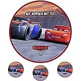 Tortenaufleger Geburtstag Tortenbild Zuckerbild Oblate Disney Cars 038