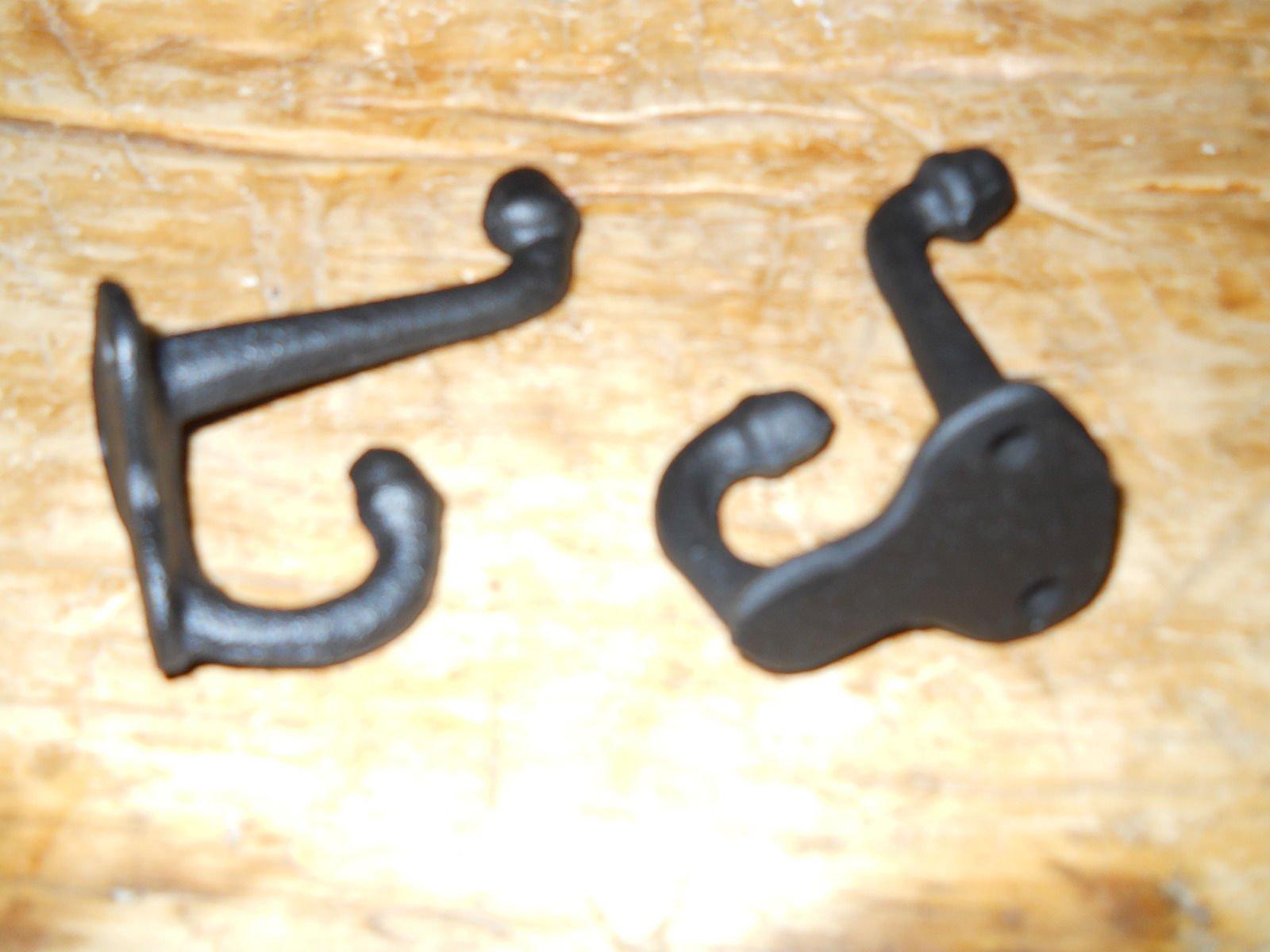 10 Cast Iron Black School Style Coat Hooks Hat Hook Rack Hall Tree Restoration , Heavy Duty Metal Decorative , Coat Hook , Hat Hook - Wall Mounted , Wall Hook , Coat Hanger ,Single Hooks for Bath