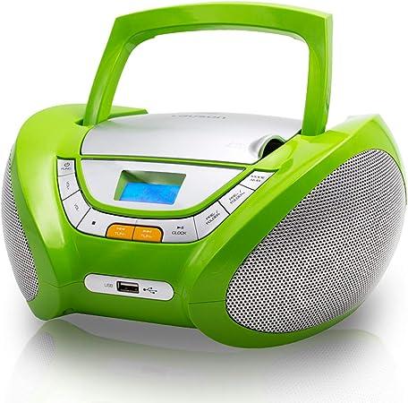 Lauson Cp444 Cd Player Für Kinder Mit Radio Mp3 Player Stereoanlage Boombox Cd Radio Usb Kopfhöreranschluss Aux In Cd Radio Radio Cd Spieler Grün Drogerie Körperpflege