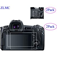 ZLMC EOS R Top +Screen Protector Compatible with EOS R Canon DSLR Camera Anti-scrach Anti-Bubble anti-Water Anti-Fingerprint Anti-Dust [2+2 pack] Two Glass Protectors for Both the Back and Top Screens
