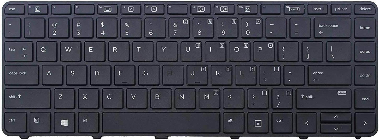 AUTENS Replacement US Keyboard for HP Probook 430 G3/430 G4/440 G3/440 G4/445 G3/640 G2/645 G2 Laptop (No Backlight)