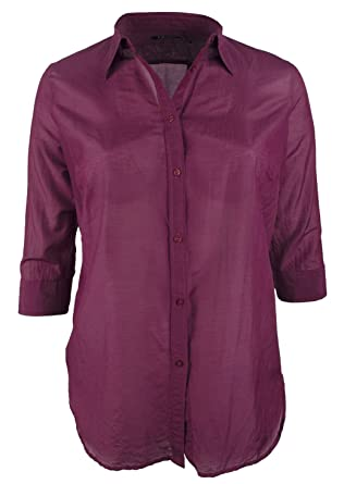 f0a0ce591fa73 Lauren Ralph Lauren Women s Plus Size Voile Button-Down Shirt at Amazon  Women s Clothing store
