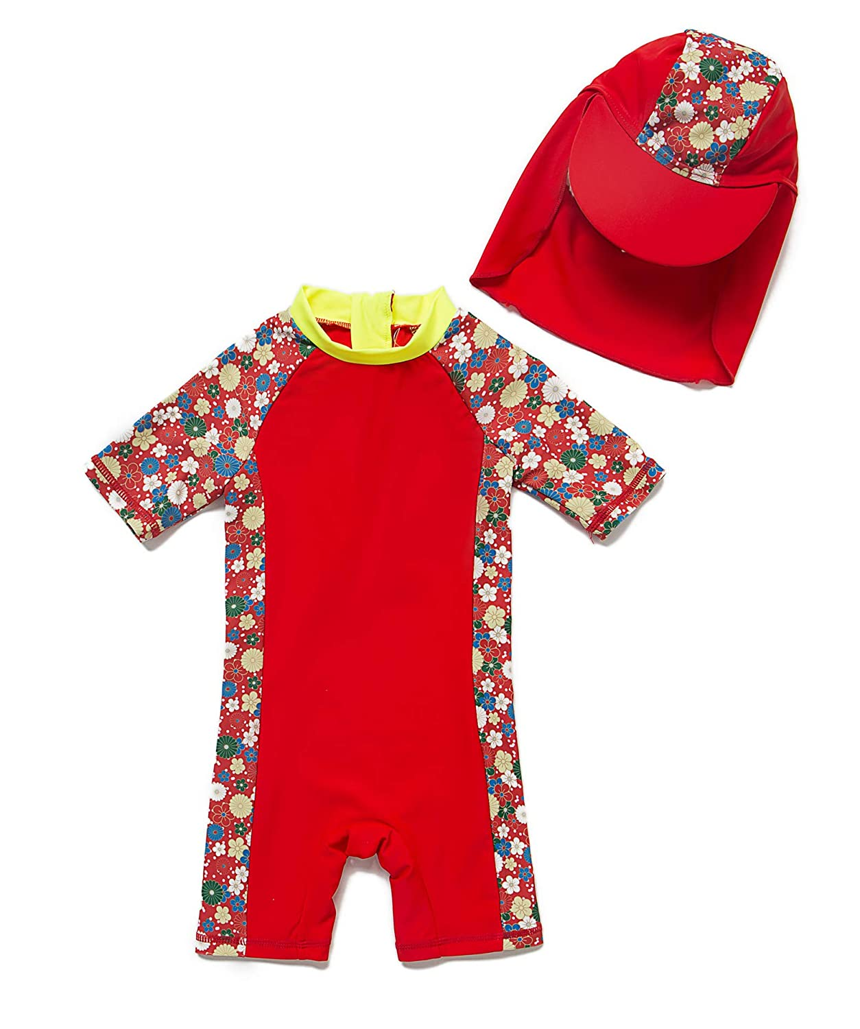 Sun Protection Swimsuit Baby Girl Toddler One-Piece UPF 50