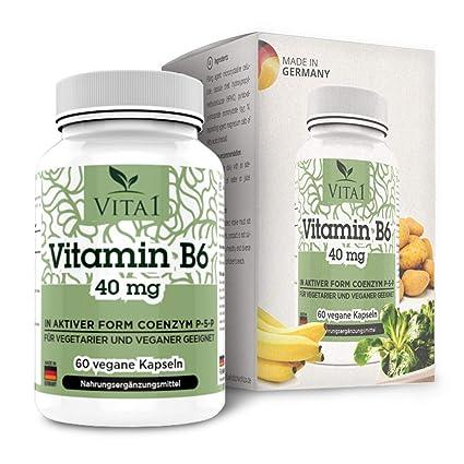 Vita 1 Vitamina B6 P de 5 de p 40 mg 60 Cápsulas (2 meses
