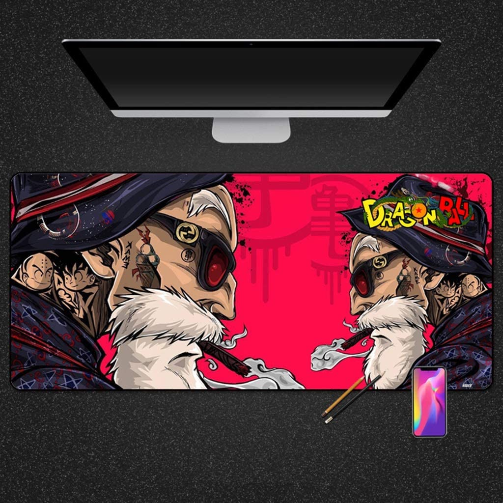 SJJSP Mouse pad Large Mouse Pad Large Game Anime Thickening Non-Slip Trend Lock Pad Pad Cartoon Mouse Pad Color : D, Size : 4mm