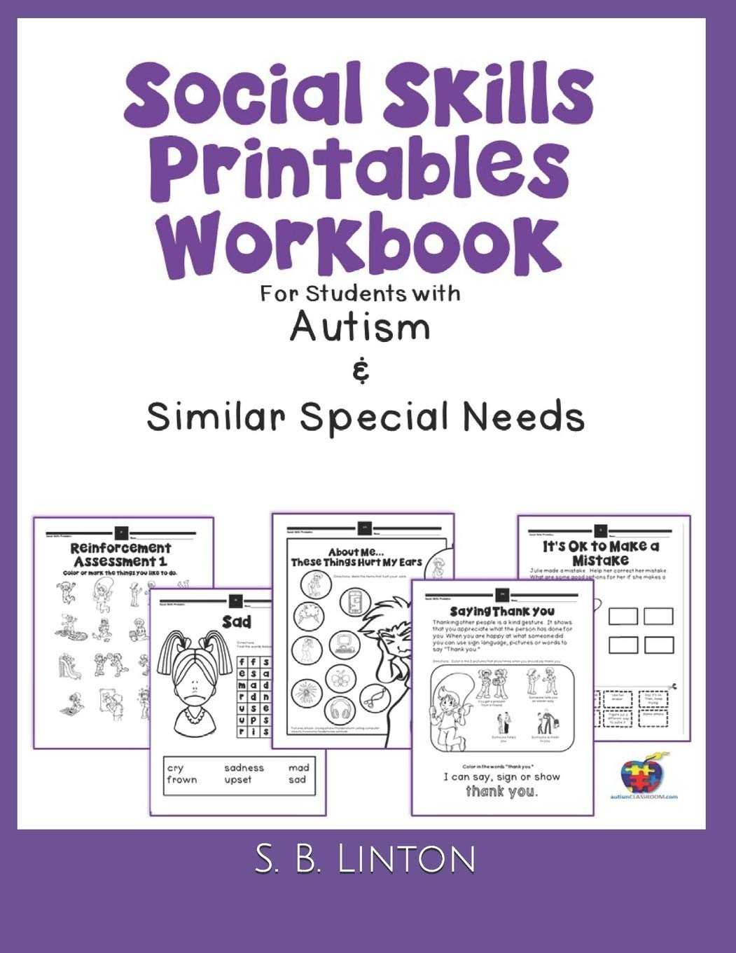 - Social Skills Printables Workbook: For Students With Autism And