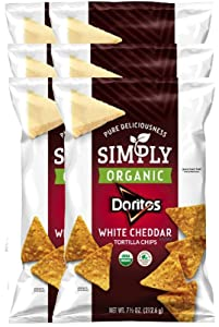 Doritos Simply Organic White Cheddar Tortilla Flavored Chips Limited edition - 7.5oz (6)