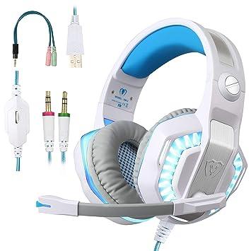 BlueFire Auriculares Gaming, 3.5mm Cancelación De Ruido Cascos Gaming, Juego Auriculares con Micrófono