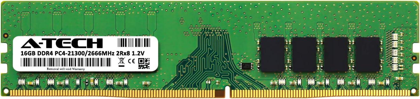 DDR4 PC4-21300 2666Mhz ECC Registered RDIMM 2rx8 AT360822SRV-X2R2 for Intel Xeon Silver 4112 Server Memory Ram 2 x 8GB A-Tech 16GB Kit