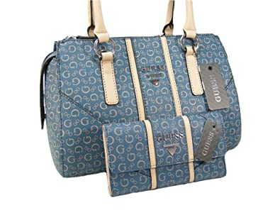 Image Unavailable. Image not available for. Color  New Guess Purse Satchel  Hand Bag Cross Body   Wallet Set 2 Piece Matching Blue efd18f38d853b