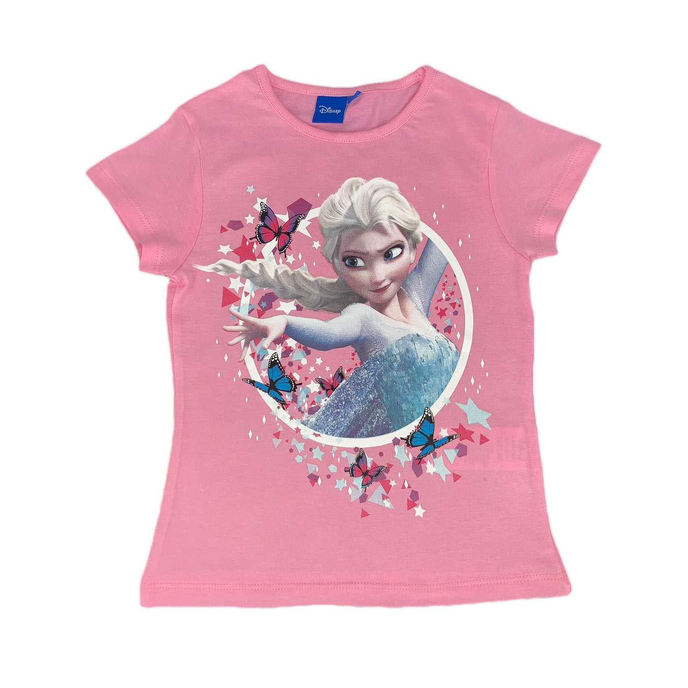 Disney Frozen T-Shirt Stampata Ufficiale Maglia Bambina da 4 a 8 Anni 0923