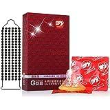 DESFUS Kondome mit Noppen, 10PCS extra empfindliche große Partikel G-Punkt stimulieren Kondome, Erwachsenen Safe Sex Naturlatex Kondome für Männer