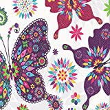 Fire HD 10 Case, Dteck Ultra Slim PU Leather Trifold Stand Case with Auto Wake/ Sleep Function Cover for All-New Amazon Fire HD 10.1 inch Tablet (7th Generation, 2017 Release), Colorful Butterfly