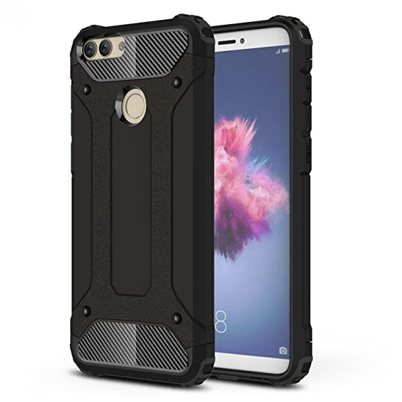 online retailer d1196 765e8 Huawei P Smart Case, Huawei Enjoy 7S Case, Ranyi [Premium Hybrid  Protection] [Metal Texture] [Shock-proof] Dual Layer Rugged Full Body  Protective Case ...