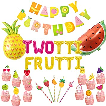 JOYMEMO Twotti Fruity Birthday Decorations Artículos para ...