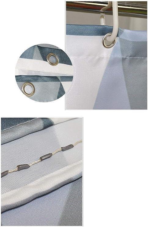 LYM &Accesorios de baño Cortina de Ducha de algodón Anti Moho ...