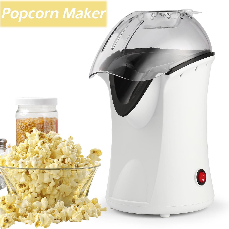 Popcorn Machine, Popcorn Maker, 1200W Hot Air Popcorn Popper Healthy Machine No Oil Needed with Wide Mouth Design