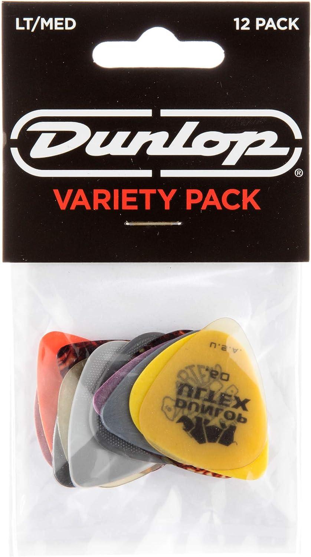 Jim Dunlop pvp101Variedad Medio/Luz reproductor de púa de guitarra (Pack de 12)
