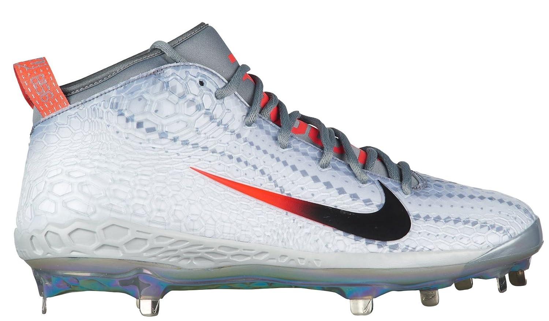 1085a4a07b4a Amazon.com: NIKE Men's Force Zoom Trout 5 Baseball Cleats, (White/Black, 7  D(M)(US)): Shoes