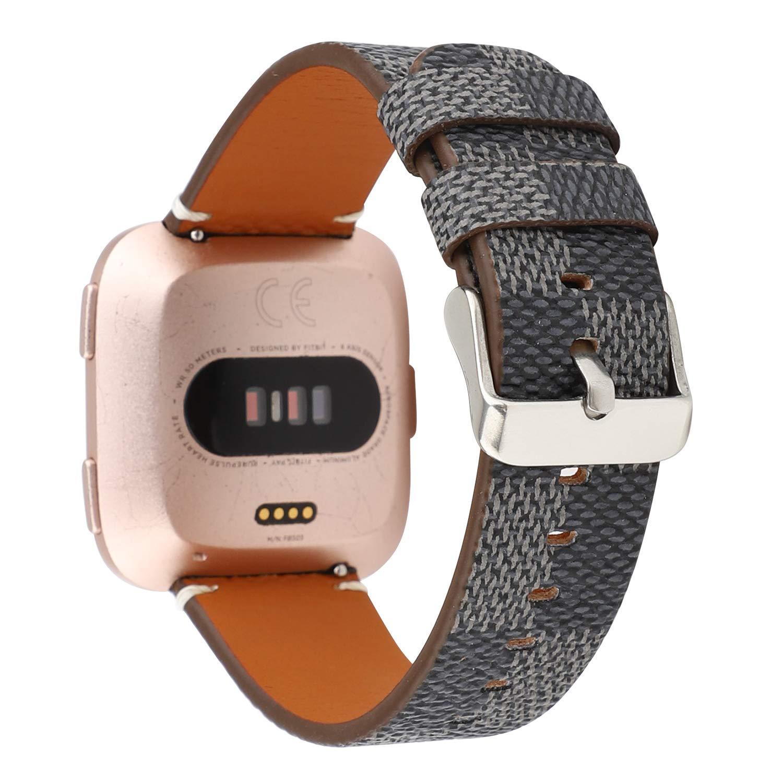 Amazon.com: NewSilkRoad Compatible con Fitbit Versa, correa ...