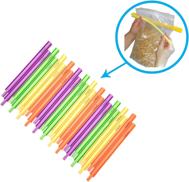 B'Seal Bag Sealer Chip Clip, Flexible, Dishwasher Safe, Freezer Friendly Airtight Food Seal Clamp (24 pack)