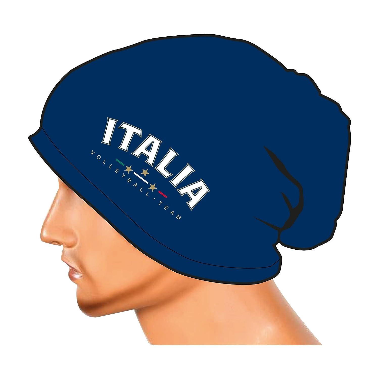 Errea Cappello//cuffia Ufficiale della Nazionale Italiana Pallavolo colore Blu