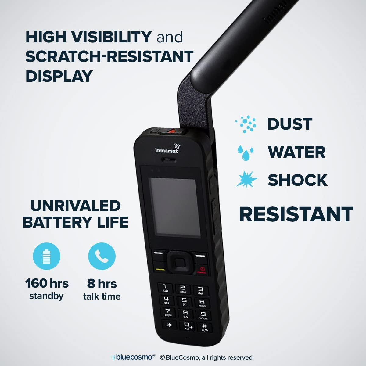 BlueCosmo Inmarsat IsatPhone 2.1 Satellite Phone Kit