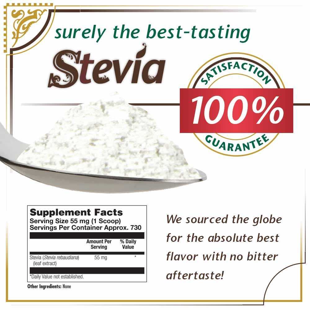 KAL® Sure Stevia Extract Powder, 1.3 OZ. | Best-Tasting, Zero Calorie, Low Glycemic | 730 Servings by KAL (Image #2)
