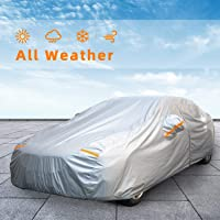 Autsop Car Cover Waterproof All Weather for Automobiles, Outdoor Sun Uv Rain Dust Wind Protection, Full Covers with…