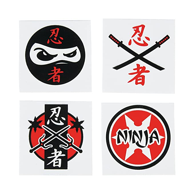 Fun Express Assorted Ninja Warrior Temporary Tattoos - 72 ...