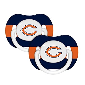 Amazon.com: Chicago Bears Chupete – 2 Pack: Baby