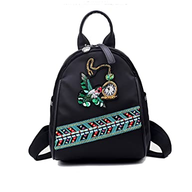62923fbb57 Black Friday Deals Cyber Monday Deals-Oxford Women Backpack School Bags  Butterfly Flower Embroidery Print