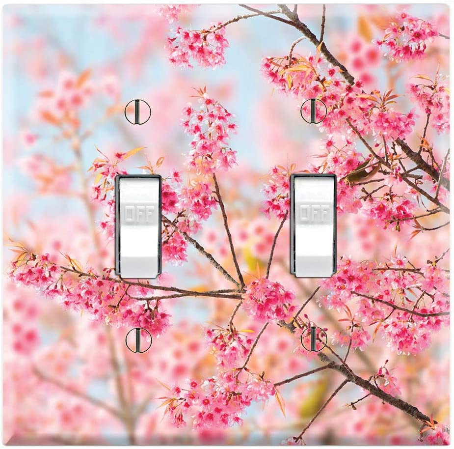 Graphics Wallplates Sakura Cherry Blossom Double Toggle Wall Plate Cover