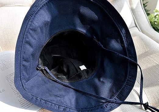 Gr/ö/ßen f/ür Erwachsene und Kinder verstellbares Kopfband JFH Group Outdoor verstaubarer Sonnenhut mit breiter Krempe