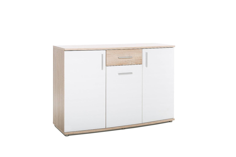 Kommode - Sideboard mit Softkante Topplatte (B H T  ca.  120 x 83 x 45 cm) 3 Türen   1 Schubladen Metallführung   3 Einlegeboden - made in Germany