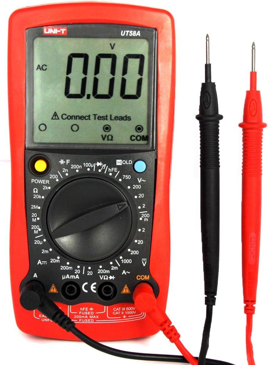 UNI-T UT58A AC/DC DMM Digital Multimeters with Voltage: Amazon.co.uk:  Electronics